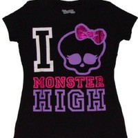 Monster High I Love Monster High Girls T-shirt