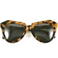 Karen Walker Number One Tortoise Cat Eye Sunglasses