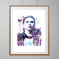 Frida Kahlo watercolor print Frida Kahlo Portrait Illustration Wall Art Home decor wedding gift boho Art Frida Kahlo [NO 121]