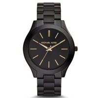 Slim Runway Black Stainless Steel Watch | Michael Kors
