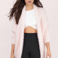 Keeping Warm Fuzzy Cardigan $68