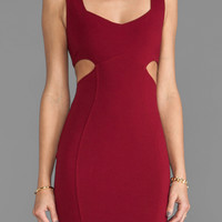 Backstage Alexandria Cut Out Dress in Burgundy