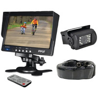 PYLE PLCMTR71 Weatherproof Backup Camera System with 7---- LCD Color Monitor & IR Night Vision Camera