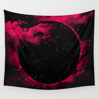 Black Hole Wall Tapestry by Jorge Lopez