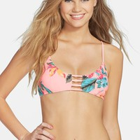 Junior Women's Rip Curl 'Paradise Found' Cutout Reversible Bikini Top
