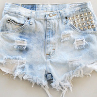 Custom, High-Wasted, denim shorts