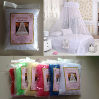 Brand New Dome Elegent Polyester Fabric Bed Netting Canopy Mosquito Net #75279