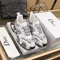 DIOR  Men Fashion Boots fashionable Casual leather Breathable Sneakers Running Shoes01GH
