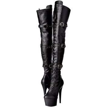 Thigh High Vegan Leather Boots