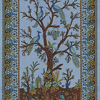 Stunning Tree of Life Tapestry-Wall Hanging-Peacocks