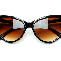 grinderPUNCH Tip Pointed Cat Eye Sunglasses Black