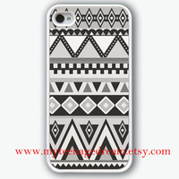 iphone 4 case, aztec iPhone 4s Case, Aztec iphone case 4s, Aztec Pattern Print iphone white hard case for iphone 4, iphone 4S