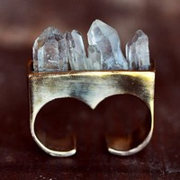 Pamela Love Double Finger Crystal Ring