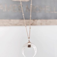 Handmade Pearl Crescent Necklace - Handmade Necklaces
