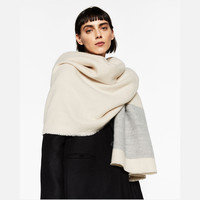 Patchwork Winter Cashmere Stripes Thicken Scarf [8924833222]