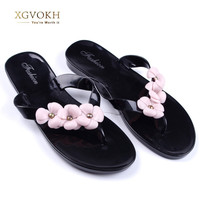 Summer Style Splendid Women Sandal Beach Shoes  Flower Flat Heels Flip Flops Women's Shoes Tstraps Sandals