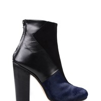 Neil Barrett Ponyhair Tipped Ankle Boot - Black Ankle Boots - ShopBAZAAR