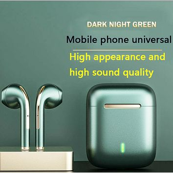 Newly blasted TWS J18 wireless 5.0 long battery life noise reduction high-quality Bluetooth headset
