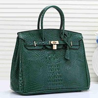 Hermes Women Fashion Leather Tote Shoulder Bag Crossbody Satchel
