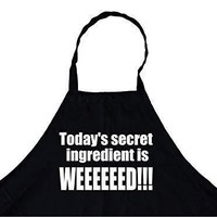 Today's Secret Ingredient is Weed Chef's Funny Cooking Apron for Everyone's Kitchen, BBQ Grill, Breathable, Machine Washable