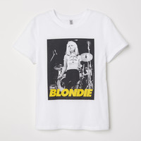 T-shirt with Printed Design - White/Blondie - | H&M US
