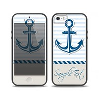 The Blue Highlighted Anchor with Rope Skin Set for the iPhone 5-5s Skech Glow Case