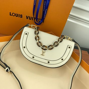LV Louis Vuitton WOMEN'S LEATHER HANDBAG INCLINED SHOULDER BAG