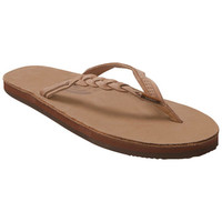 Rainbow Sandals Flirty Braidy Tan Flip Flop