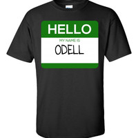 Hello My Name Is ODELL v1-Unisex Tshirt