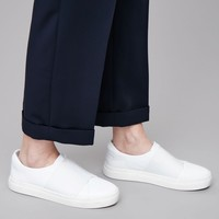 Wrap-over leather sneakers - White - Shoes - COS US