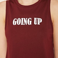 Going Up Cropped Muscle Tee