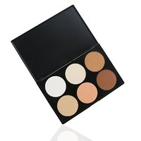 Royal Care Cosmetics Makeup Contour Kit Highlight and Bronzing Powder Palette, 6 Colors, 0.9 Ounce