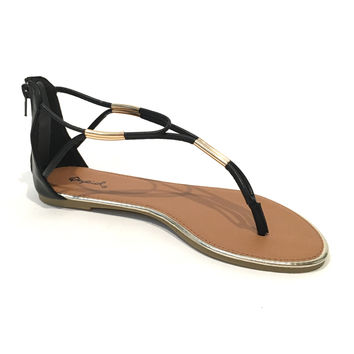 Toes In The Sand Sandals In Black