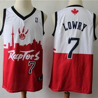 2019 Toronto Raptors 7 Kyle Lowry Red/White City Edition Jersey