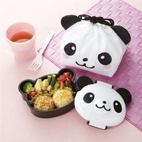 panda bear Bento Box lunch box with lunch bag from Japan - Bentos - Bento Boxes