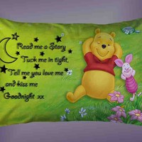 Cute Disney Winnie The Pooh And Piglet Quotes Pillow Case 16 x 24 20 x 26 Cover