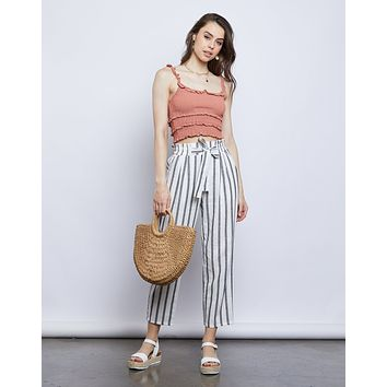Shay Striped Linen Pants