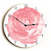 Rose Unique Wall Clock by Artist Lisa Weedn