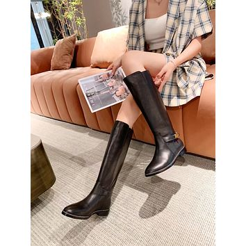 Givenchy2021 Trending Women's men Leather Side Zip Lace-up Ankle Boots Shoes High Boots09050gh