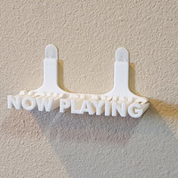 Now Playing Vinyl Record Wall Mount Display Shelf - 3D Printed Wall Art Decor - Apartment Friendly