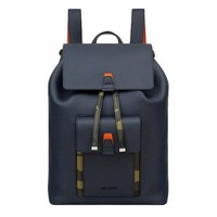 Navy Leather Camo Detail Backpack by Dior Homme