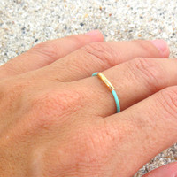 Leather Band with Tube Ring