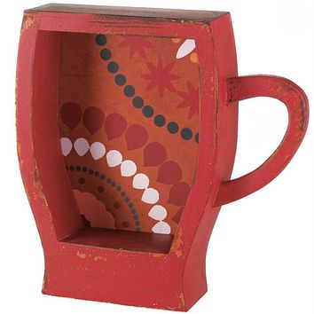Coffee Cup Shelf - Red