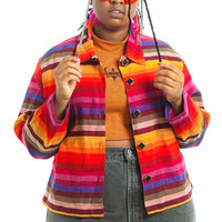 Vintage 90's Woven Rainbow Jacket - One Size Fits Many