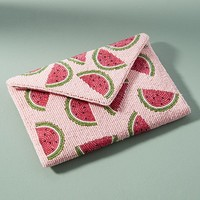 Beaded Watermelon Pouch