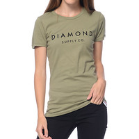 Diamond Supply Co. Solid Stone Olive T-Shirt