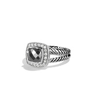 Petite Albion Ring with Hematine and Diamonds - David Yurman