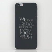 """Harry Potter - Albus Dumbledore quote """"We must all face the choice..."""" iPhone & iPod Skin by SimpleSerene"""
