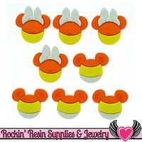 Disney Minnie & Mickey Mouse Halloween Candy Corn Heads Licensed Buttons