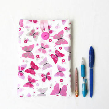 IPad Mini case, pink butterfly fabric, fabric tablet cover, Ipad Mini cover, padded tablet sleeve, gift for her, handmade in the UK